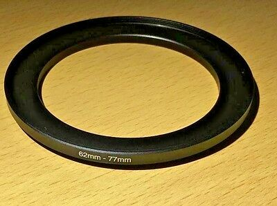 Lens Filter Ring Step Up Adapter  62-77 mm  62mm - 77mm 62mm to 77mm UK