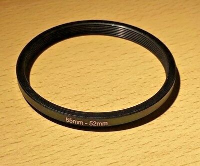 Lens Filter Ring Step Down Adapter  55-52 mm  55mm - 52mm 55mm to 52mm UK