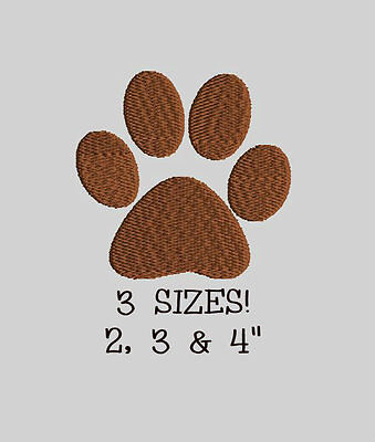 DOG CAT PAW FOOTPRINT Machine Embroidery Design File Download Animal Mini Small
