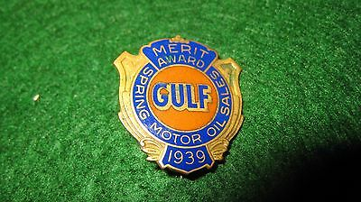 1939 Gulf Gas/oil Co. Logo Merit Award  Pin, Neat