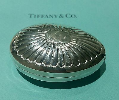 Tiffany Portugal Large Sterling Silver Figural Egg Trinket Or Snuff Box!