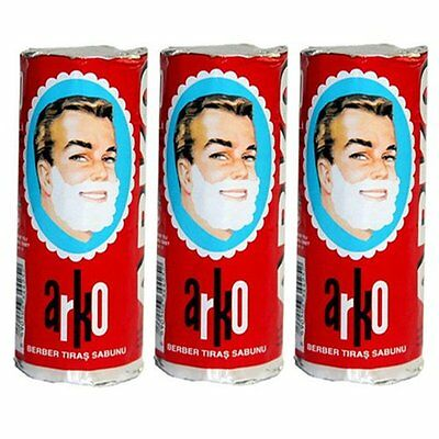 ARKO shaving soap STICK | Traditional turkish shave cream | 75g x 3 Sticks