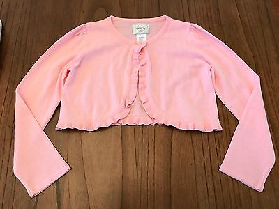 GYMBOREE Girl's size M (7/8) pink shrug long sleeved sweater in VGUC!! CUTE!!