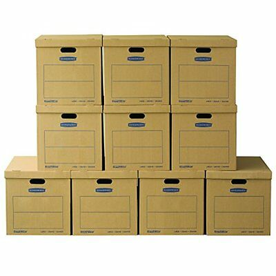 Bankers Box SmoothMove Classic Moving Boxes Large 10-Pack No Tape Required 77...