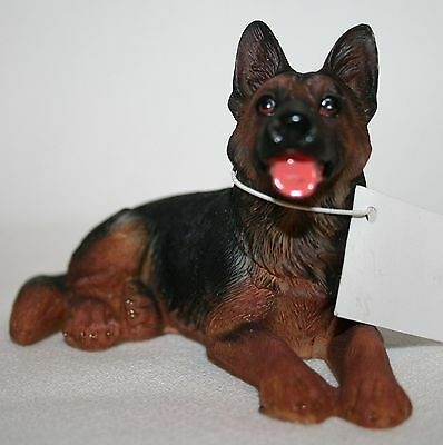 "Laying German Shepherd Figurine  4"" SEE PHOTOS"