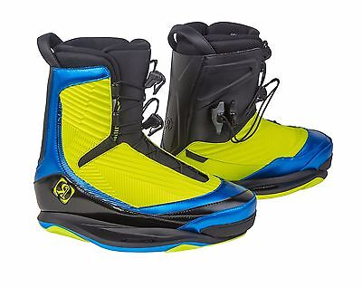 2016 Ronix One Boot Yellow/ Blue Size 10 Wakeboard Binding