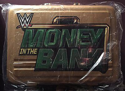 NEW! WWE Luggage Money in the Bank Commemorative Briefcase,Gold,One Size