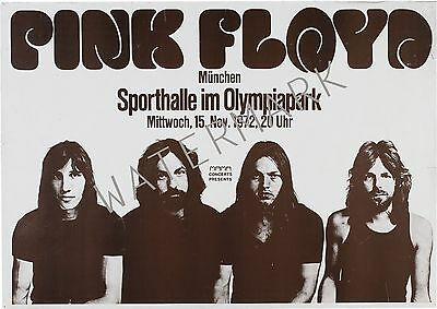 Pink Floyd-sporthalle im olympiapark, Munchen, Germany 1972 concert poster