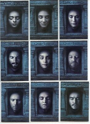 Game Of Thrones Season Six HALL OF FACES Complete 16  Card Set HF1 - HF16  6 S6