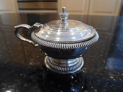 Vintage Richard Comyns Sterling Silver Mustard Pot with Glass Liner London 1962