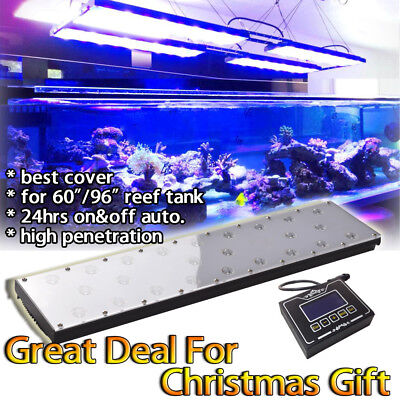 "DSunY Dimmable 60"" 96"" LED Aquarium Light Full Spectrum Reef Marine Coral Lamp"