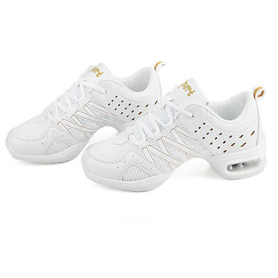Women's Soft Light Breathable Modern Jazz Hip Hop Dance Sneakers Fitness Shoes