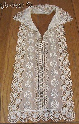 Fancy Tambour NET Lace Collar Vintage