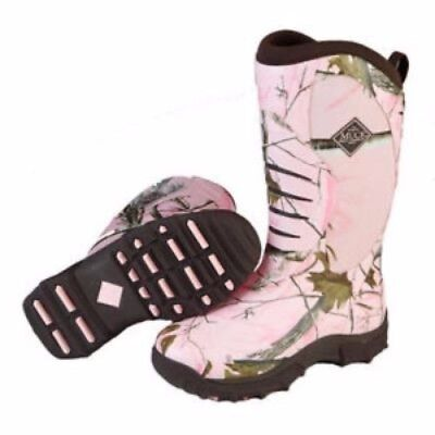 Muck Boots Muck Womens Pursuit Stealth Boot Pink/realtree Apc Size 8 Wps-4Rap-8