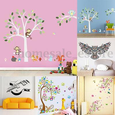 Flower Animal Tree Removable Wall Stickers Vinyl Decal DIY Room Mural Art Decor