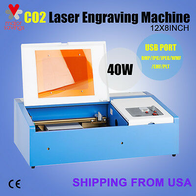 40W CO2 Laser Engraving Cutting Machine Engraver Cutter USB Port Premium