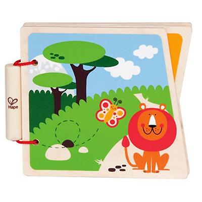 Hape At the Zoo Wooden Book Baby Hard Cover Animals Christmas gift