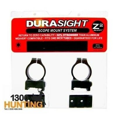 Durasight Z-2 Alloy Scope Mount Systems - Winchester 70 Rings & Bases Blk Ds705B
