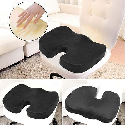 Memory Foam Seat Cushion Offic Chair Car Seat Back Pain Relief Coccyx Orthopedic
