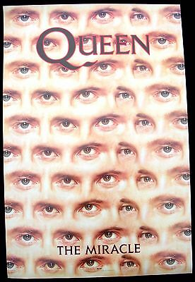 QUEEN Freddie Mercury The Miracle Promo Poster Mint- 1989 ORIGINAL! LAST ONE