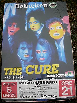 THE CURE Head On The Door Italian Tour Promo Poster Mint- 1985 ORIGINAL LAST ONE