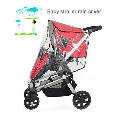 Waterproof Clear Wind Shield Baby Stroller Pushchair Pram Rain Cover Protector