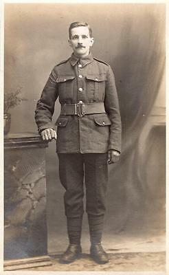 WW1 Unnamed Soldier RP Postcard Military British Army f1