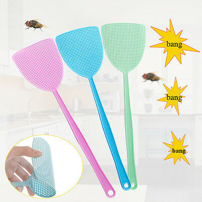 New Fly Swat Killer Swatter Bug Bee Mosquito Zapper Insect Long Handle Catcher