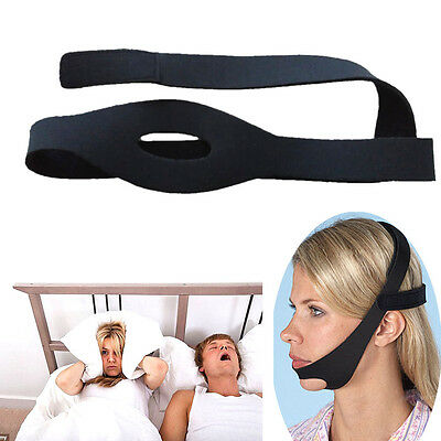Stop Snoring Anti Snore Belt Apnea Jaw Solution Sleep TMJ Support Chin Strap
