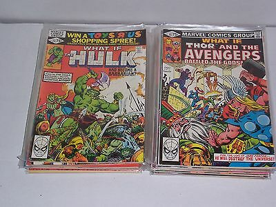 Marvel What if? comic series 1977 issues 23-47 (19 comics listed in description)