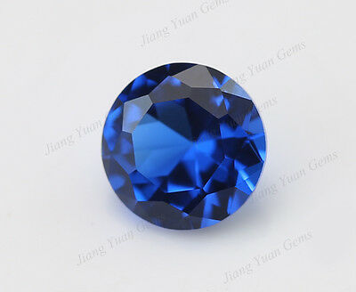 500pcs Round Brilliant 113# Synthetic Sapphire Spinel Blue Gemstone 1.0~8.0mm