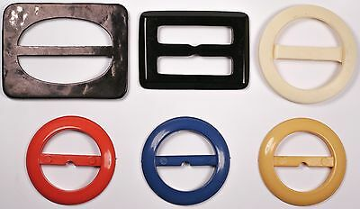5x Vintage Retro Belt Buckles Selection Sewing Crafts Dress-making Art Deco