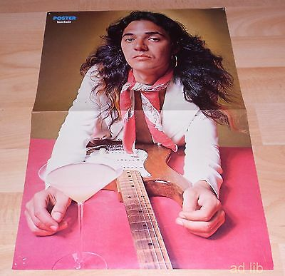 "TOMMY BOLIN (DEEP PURPLE) SWEDEN POSTER 16"" x 11"" 1970s"