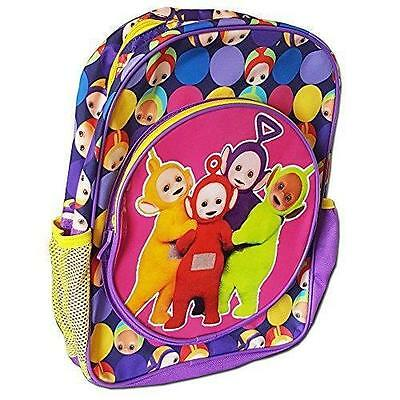 New Teletubbies Childrens Purple Backpack With Pockets New Official