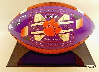 Deshaun Watson Signed Autographed Clemson Tigers Natal Champs Limited Edition FB