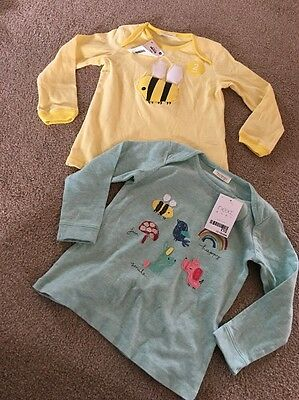 Next Baby Girls Long Sleeved Tops Bee Toadstool Rainbow 12-18 Months