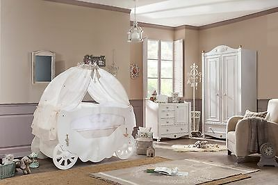 Cilek White Fairy Baby Cot Bed - Bedding & Canopy Available (70x130cm)