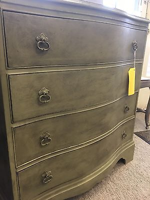Reproduction Bow Fronted Chest of Drawers Painted in Annie Sloan Chalk Paint