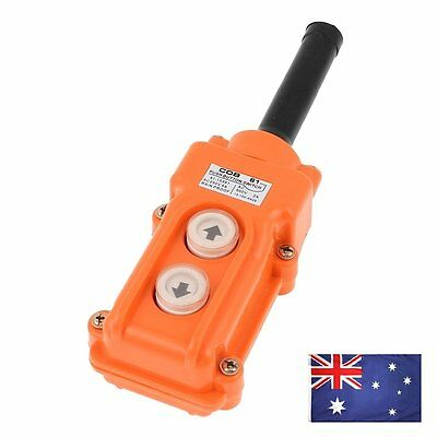 AU COB-61 Crane Pendant Control Station UP Down Hoist Push Button Switch
