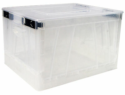 Folding Storage Cube ,Clear Color,4 Pack (61803B04S)