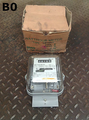Osaki Electric Type OB90HT Watthour Electric Usage Meter 120V 60Hz TA 2.5-CL10