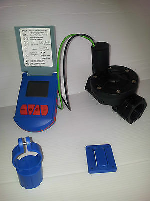 "GEVA 75 Indoor/Outdoor Irrigation Controller+1"" Valve 3  Programs 9V Bat. Inside"