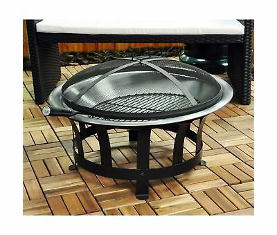 Large Outdoor Modern Outdoor Garden Fire Pit With Grill For BBQ