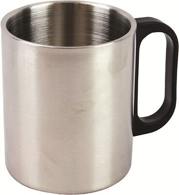 Highlander Large Steel Insulated Thermal Mug Stainless Cup Camping Outdoor