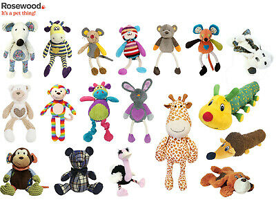 Rosewood Chubleez Squeaky Soft Plush Dog Puppy Cuddly Toys 4 Varieties