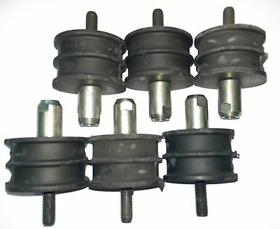 Set of 6 Benford Terex Roller Mount Single Drum MBR71 1702-214 Anti Vibration