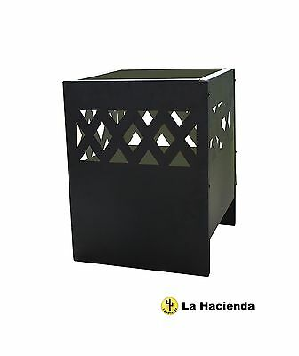 La Hacienda Modern 56126 Ottawa Metal Fire Basket / Fire Pit Black