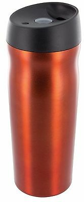 Highlander Large Steel Insulated Thermal Travel Mug Stainless Cup Orange (203)
