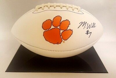 Mike Williams Signed Autographed Clemson Tigers White Panel Football COA
