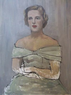 OIL ON CANVAS PAINTING by ? BRADSHAW A PORTRAIT STUDY OF A FEMALE
